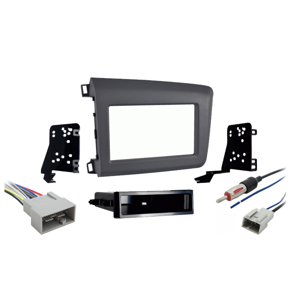 Honda Civic 2012 Double DIN Stereo Harness Radio Install Dash Kit Package New