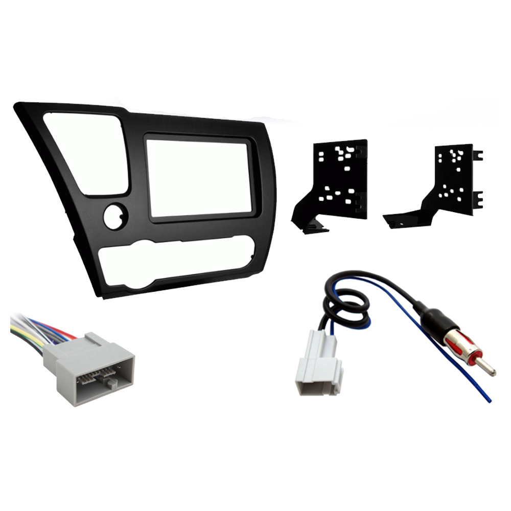 Honda Civic 2013 Double DIN Stereo Harness Radio Install Dash Kit Package New