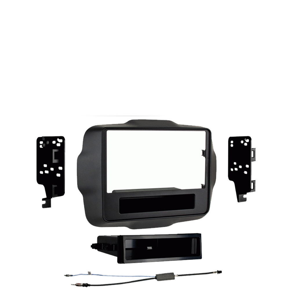 Jeep Renegade 2015 2016 Single DIN Stereo Harness Radio Install Dash Kit Package