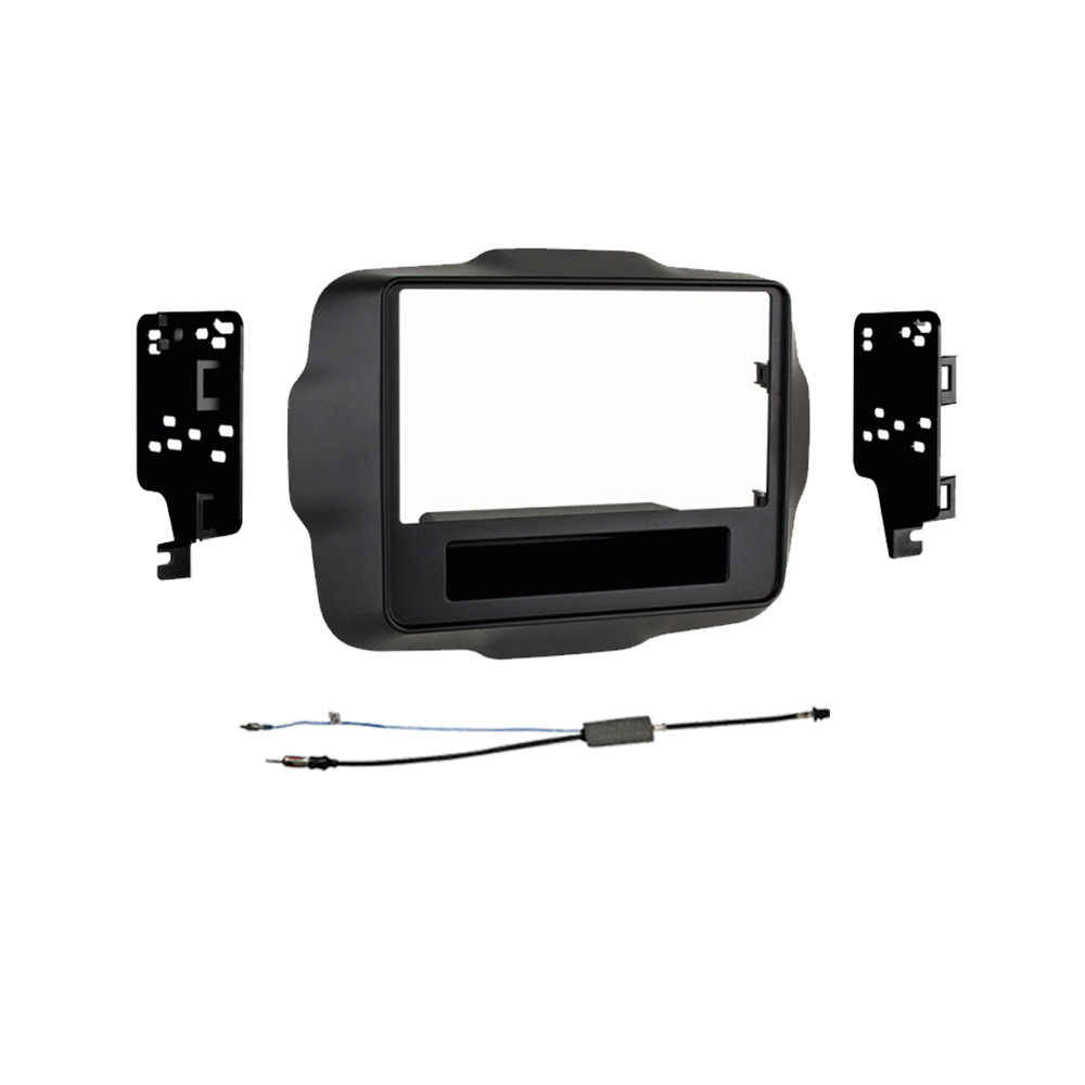 Jeep Renegade 2015 2016 Double DIN Stereo Harness Radio Install Dash Kit Package