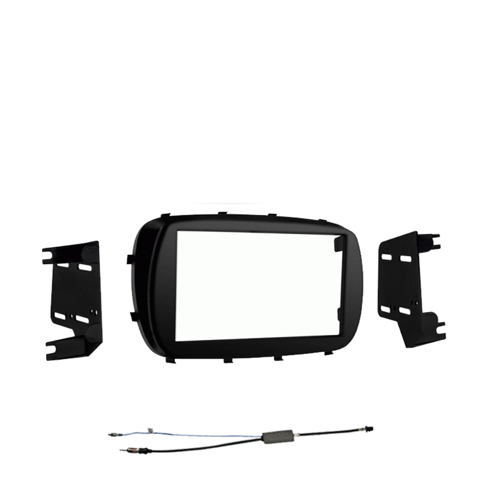Fiat 500X 2016-2018 Double DIN Stereo Harness Radio Install Dash Kit Package New