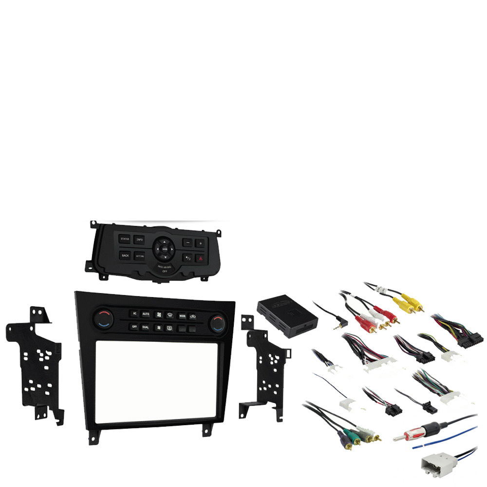 Fits Infiniti G37 2008 2009 2010 2012 2013 Single or Double DIN Stereo Radio Install Dash Kit