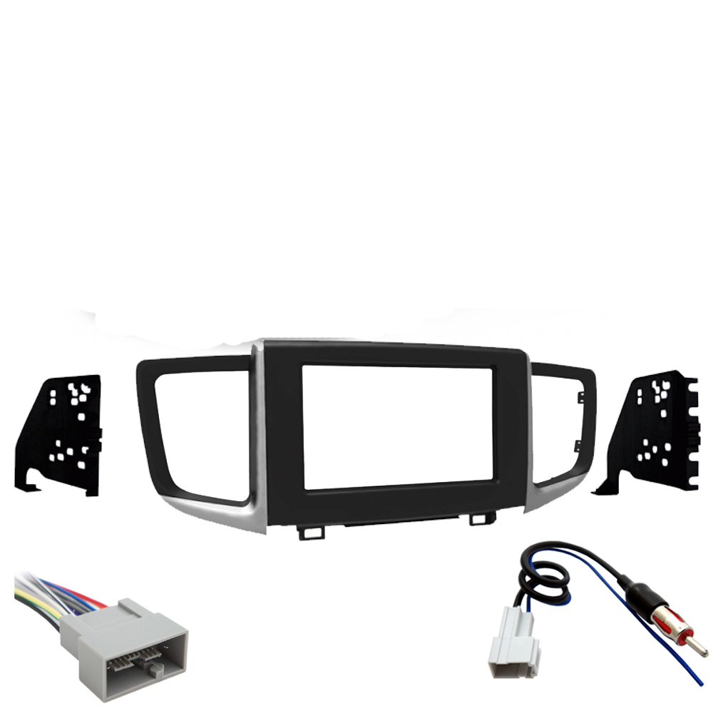 honda ridgeline 2017 2019 double din stereo harness radio installdetails about honda ridgeline 2017 2019 double din stereo harness radio install dash kit new