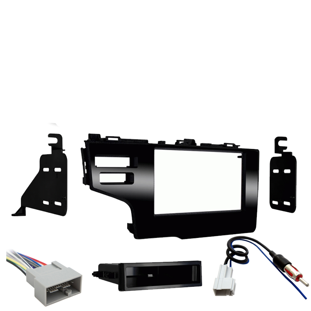 Honda Fit 2015 2016 2017 Single DIN Stereo Harness Radio Install Dash Kit Package New