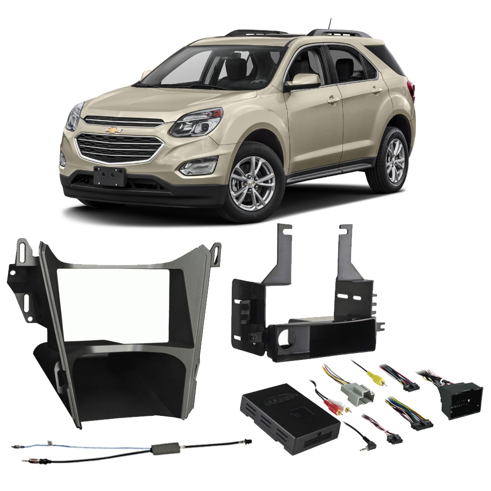 Chevy Equinox 2013 2014 2015 2016 2017  Single or Double DIN Stereo Radio Install Dash Kit