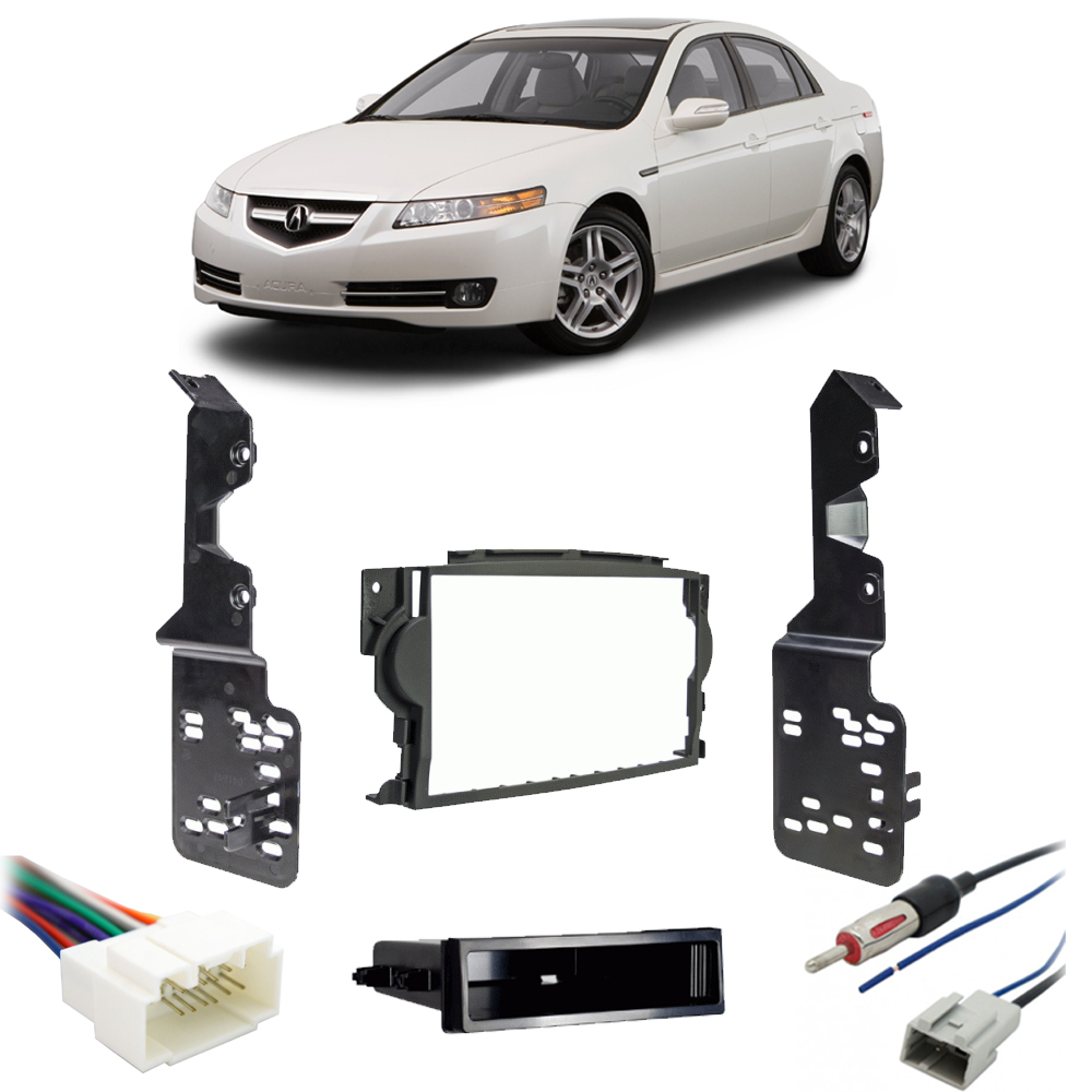 Acura TL 2007-2008 Single DIN Stereo Harness Radio Install Dash Kit Package New