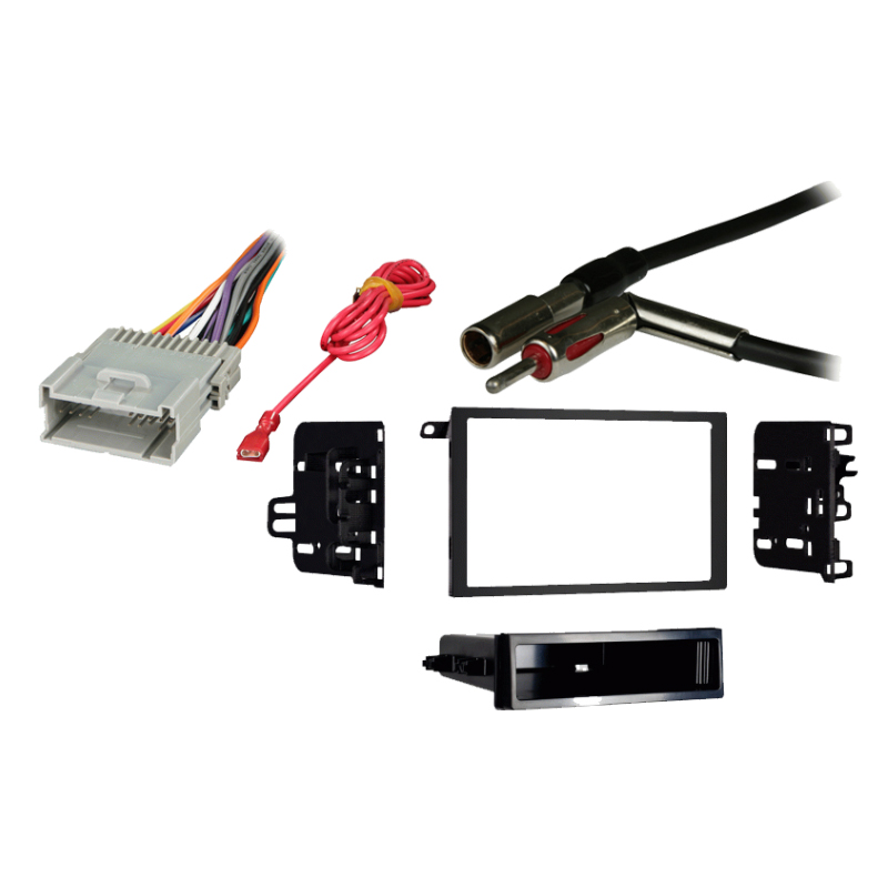 Chevy S-10 Pickup 2002 w/ Factory Double DIN Radio Stereo Harness Dash Kit