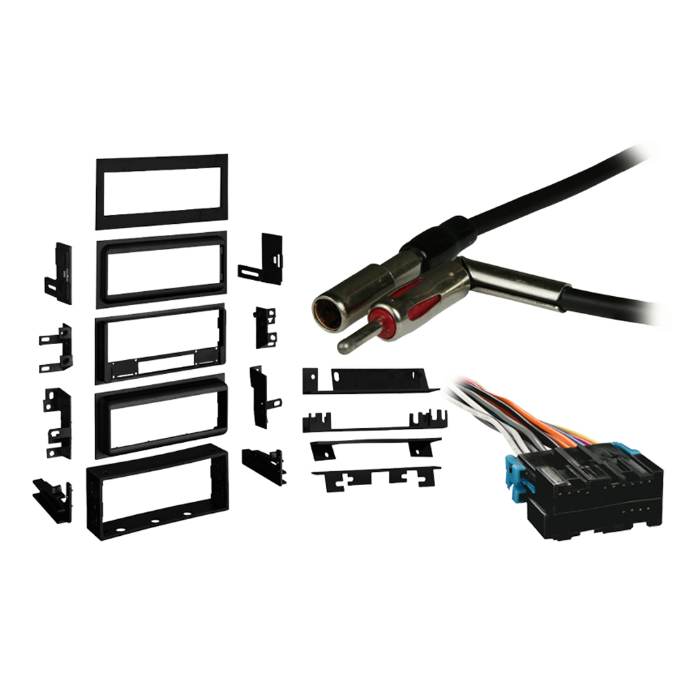 Chevy S-10 Pickup 89-93 Single DIN Stereo Harness Radio Install Dash Kit Package