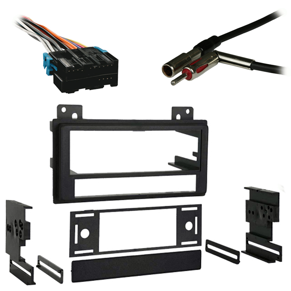 Chevy S-10 Pickup 94-97 Single DIN Stereo Harness Radio Install Dash Kit Package