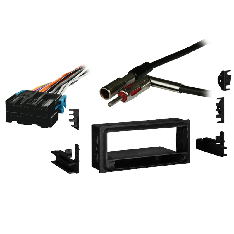 Chevy S-10 Pickup 98-01 Single DIN Stereo Harness Radio Install Dash Kit Package