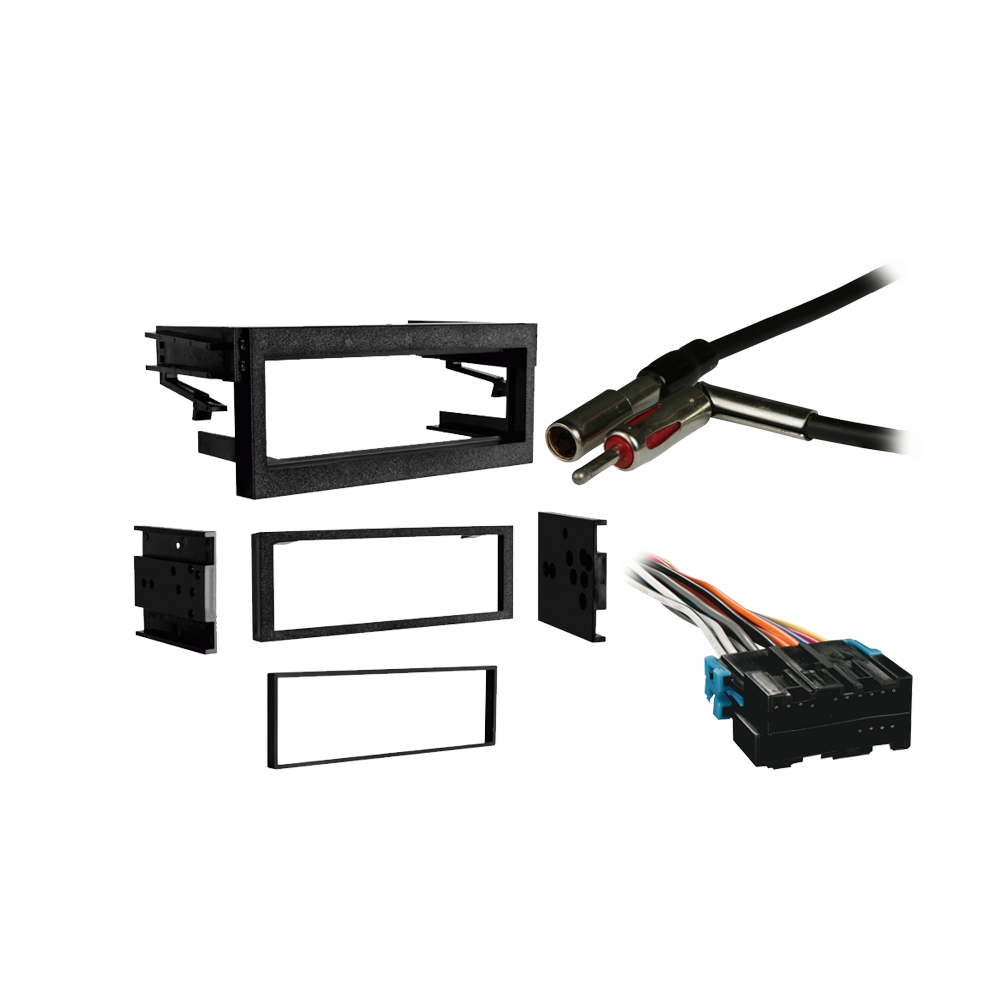 Chevy Tahoe 1995 1996 1997 1998 1999 2000 2001 2002 Single DIN Stereo Harness Radio Install Dash Kit Package