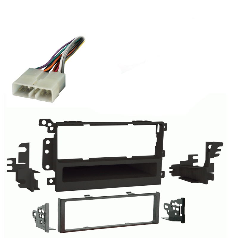 Chevy Tracker 1998 1999 2000 2001 2002 2003 2004 Single DIN Stereo Harness Radio Install Dash Kit Package