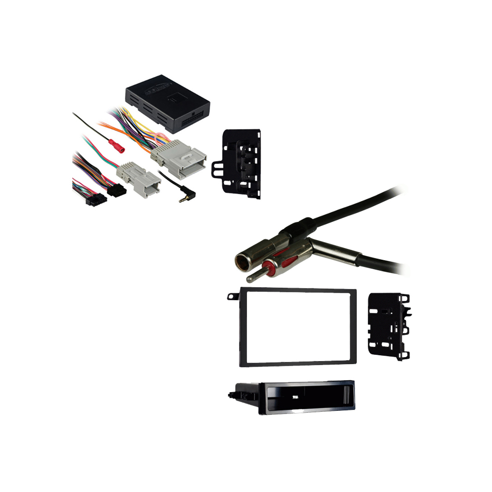 Chevy Trailblazer 02-09 Double DIN Stereo Harness Radio Install Dash Kit Package
