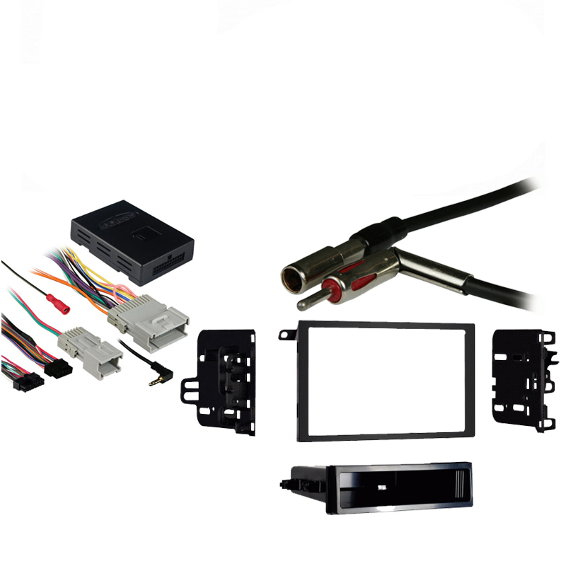 Chevy Venture Van 00-05 Double DIN Stereo Harness Radio Install Dash Kit Package