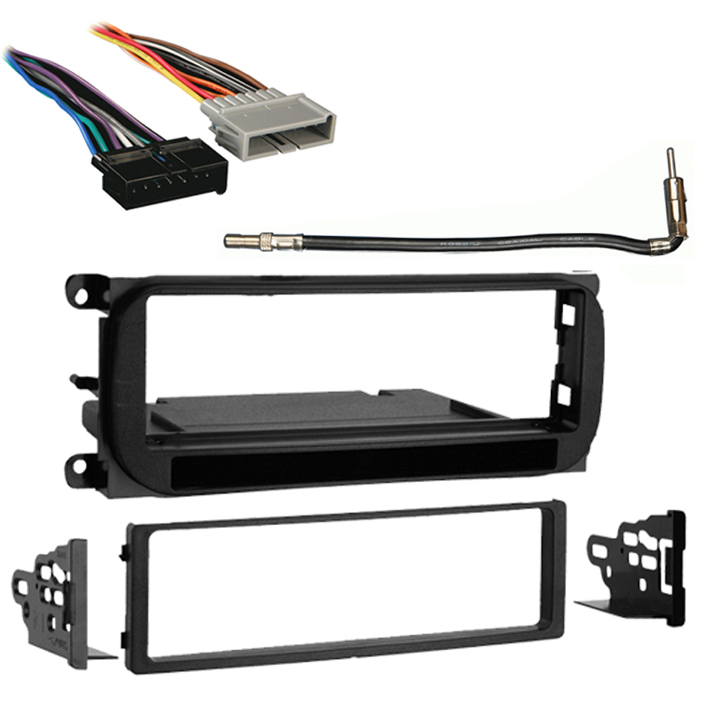 Dodge Caravan 2001 Single DIN Car Stereo Harness Radio Install Dash Kit Package