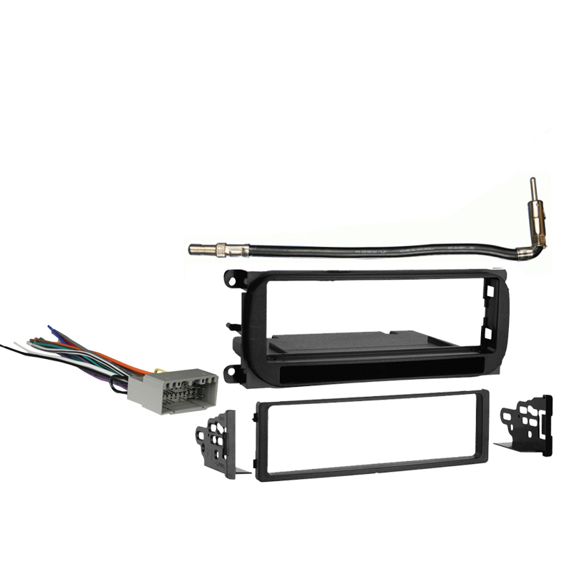 Dodge Caravan 2002-2007 Single DIN Stereo Harness Radio Install Dash Kit Package