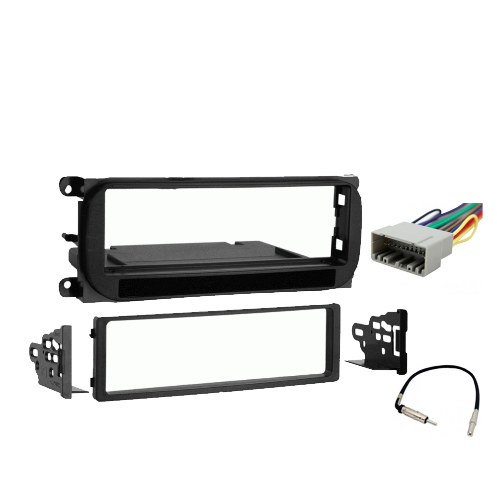 Dodge Neon 2000-2001 Single DIN Stereo Harness Radio Install Dash Kit Package