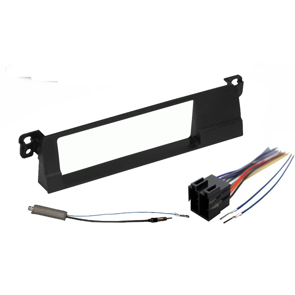 BMW 3 Series 1999-2001 Single DIN Stereo Harness Radio Install Dash Kit Package