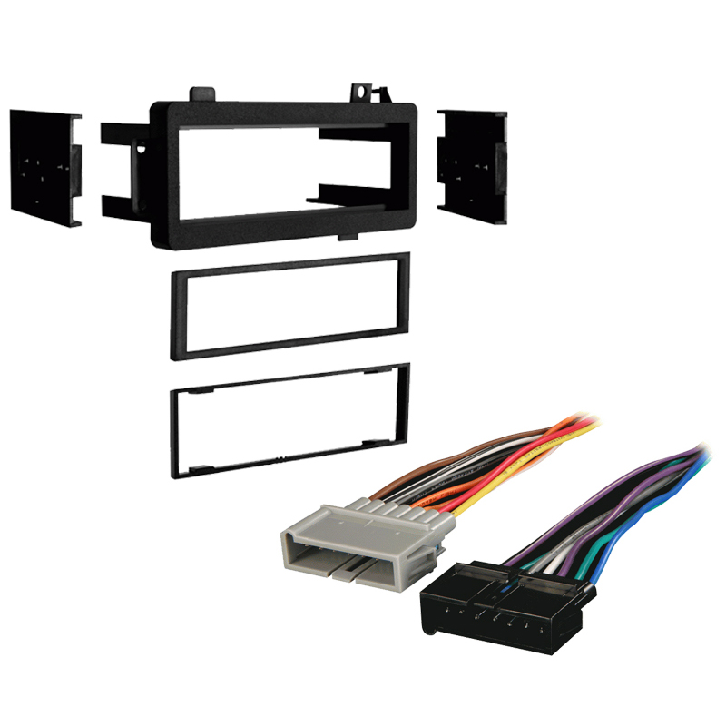 Dodge Ram Pickup 84-01 Single DIN Stereo Harness Radio Install Dash Kit Package
