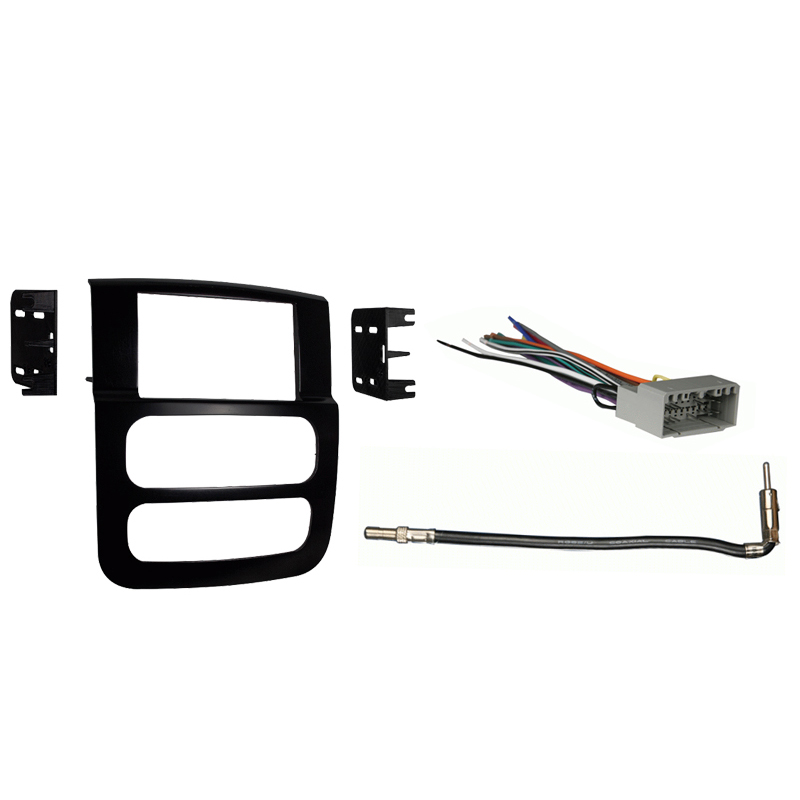 Dodge Ram Pickup 2500/3500 2003-2005 Double DIN Stereo Harness Radio Dash Kit