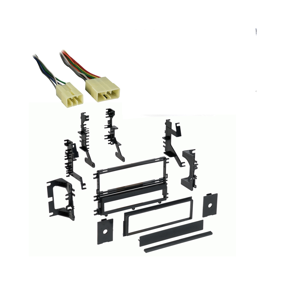 Dodge Stealth 1994-1996 Single DIN Stereo Harness Radio Install Dash Kit Package