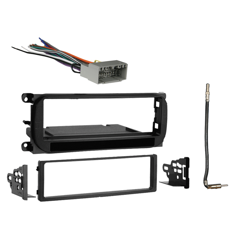 Dodge Stratus Sedan 2002-2006 Single DIN Stereo Harness Radio Install Dash Kit