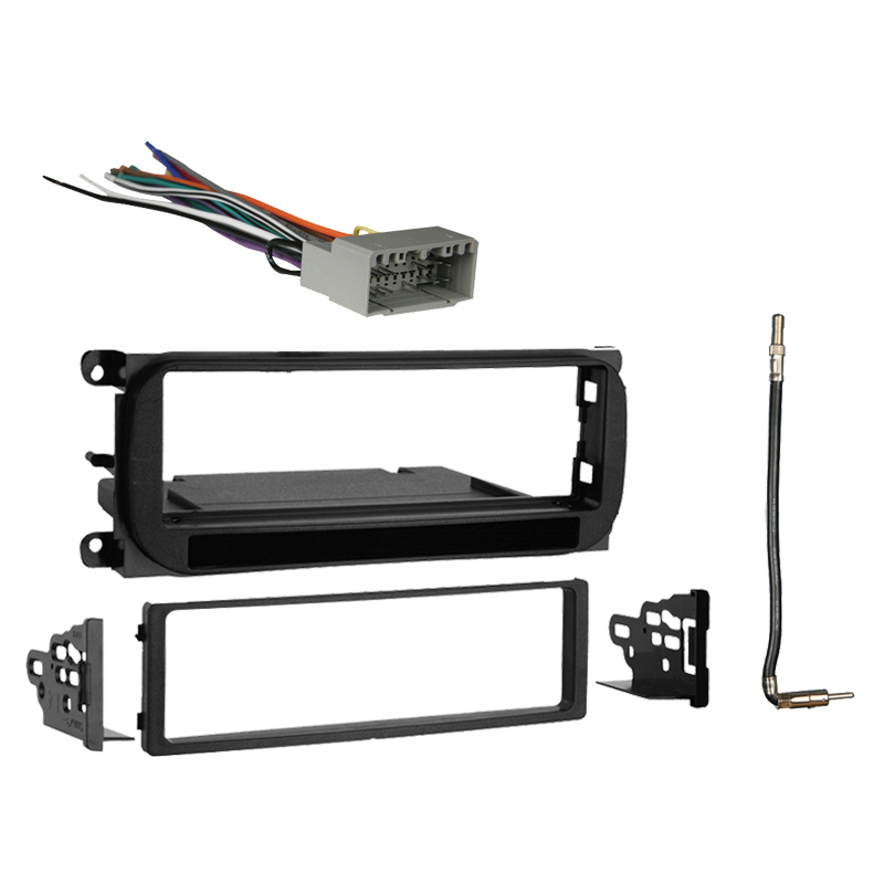Dodge Viper 2003 2010 Single DIN Stereo Harness Radio Install Dash Kit Package