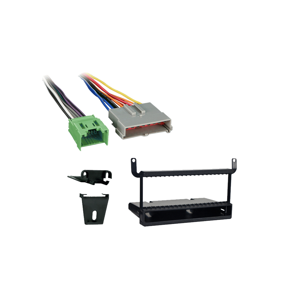 Car Radio Single DIN Dash Kit for 95-08 Ford//Lincoln//Mercury With Wiring Harness