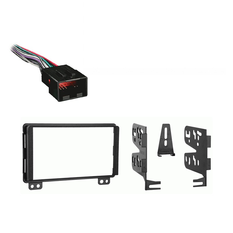 Ford Expedition 2003 Double DIN Stereo Harness Radio Dash Kit   Early Production