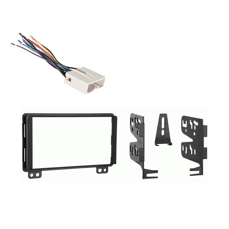 Ford Expedition 2003 Double DIN Stereo Harness Radio Dash Kit   Late Production