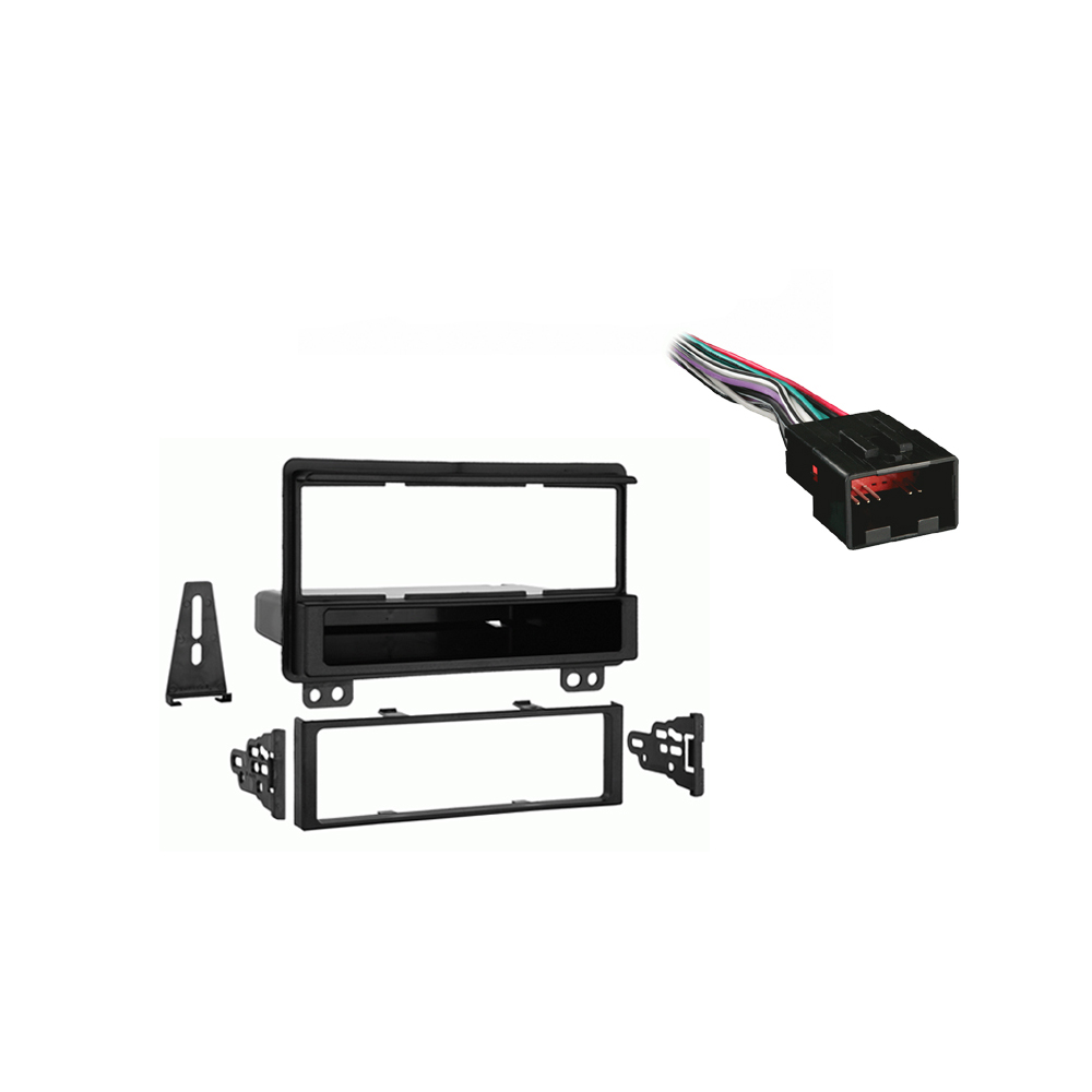 Ford Explorer 2004 2005 Single DIN Stereo Harness Radio Install Dash Kit Package