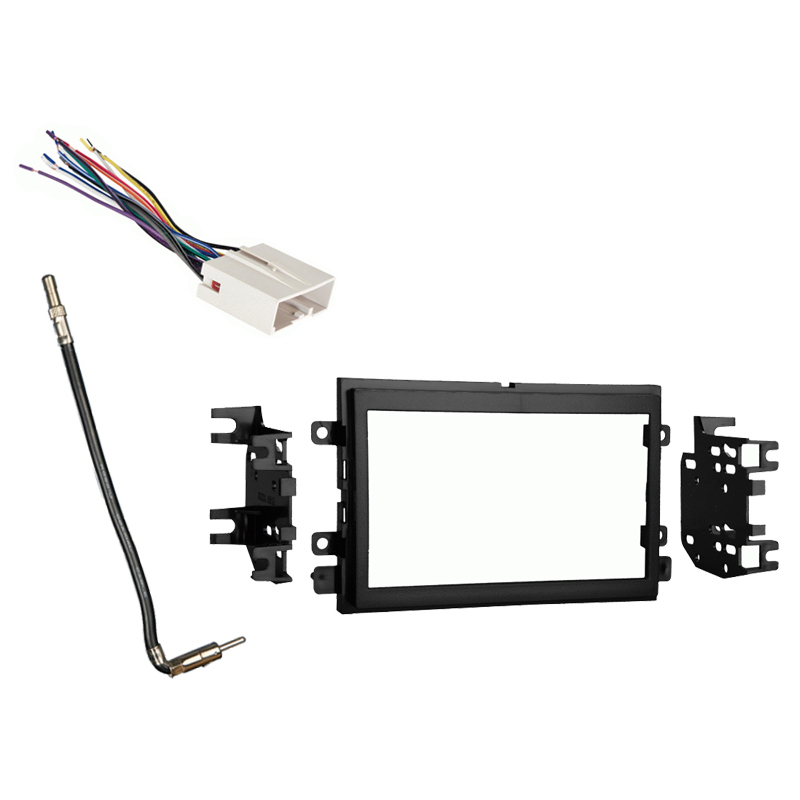 Ford Explorer 2006 2007 2008 2009 2010 Double DIN Stereo Harness Radio Install Dash Kit Package