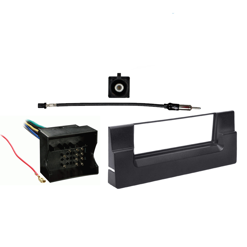 BMW 5 Series 2002-2003 Single DIN Stereo Harness Radio Install Dash Kit Package