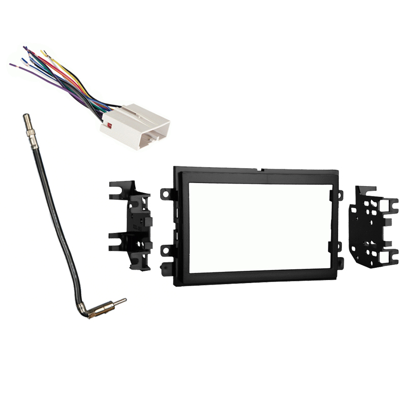 Ford F 150 2007 2008 Double DIN Stereo Harness Radio Install Dash Kit Package