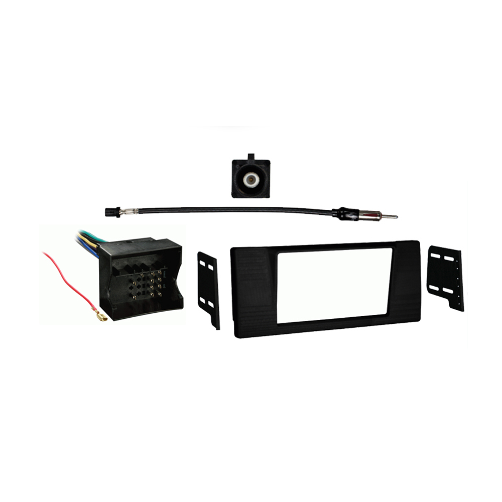 BMW 5 Series 2002-2003 Double DIN Stereo Harness Radio Install Dash Kit Package
