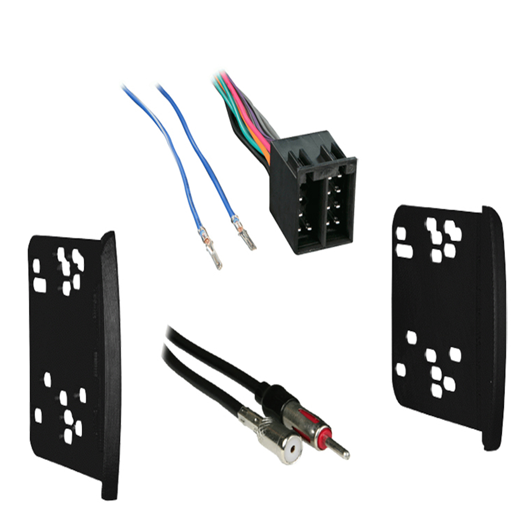 Ford Focus 2003 2004 w  Blaupunkt Radio Double DIN Stereo Harness Dash Kit