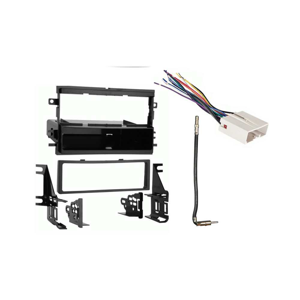 Ford Mustang 2007-2008 Single DIN Stereo Harness Radio Install Dash Kit Package