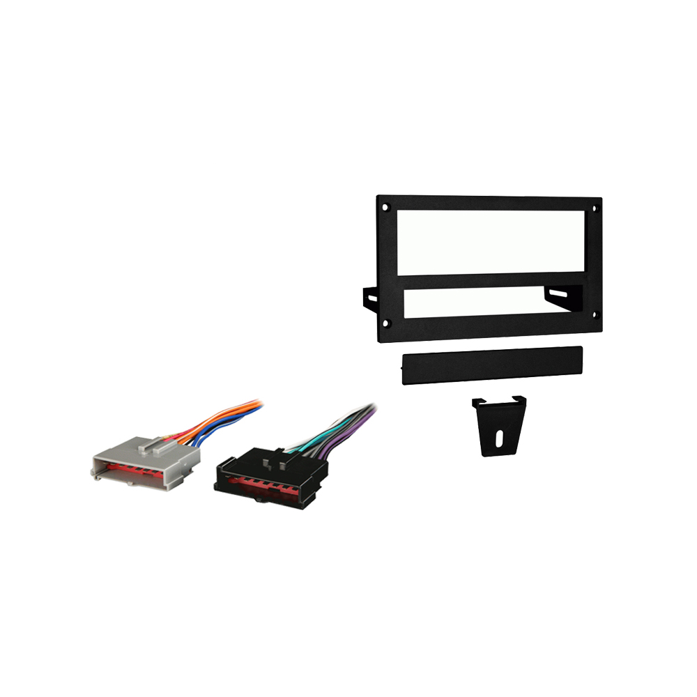 Ford Mustang 1987-1993 Single DIN Stereo Harness Radio Install Dash Kit Package