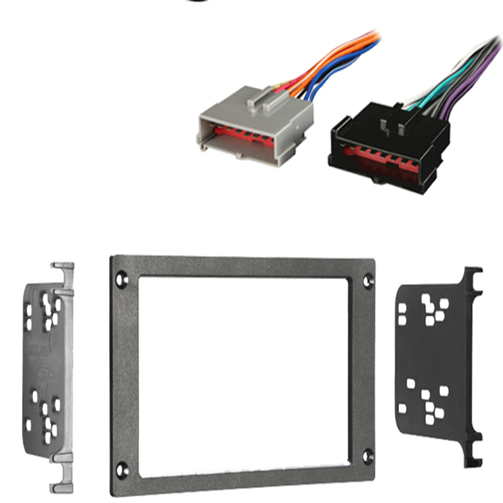 Ford Mustang 1987-1993 Double DIN Stereo Harness Radio Install Dash Kit Package
