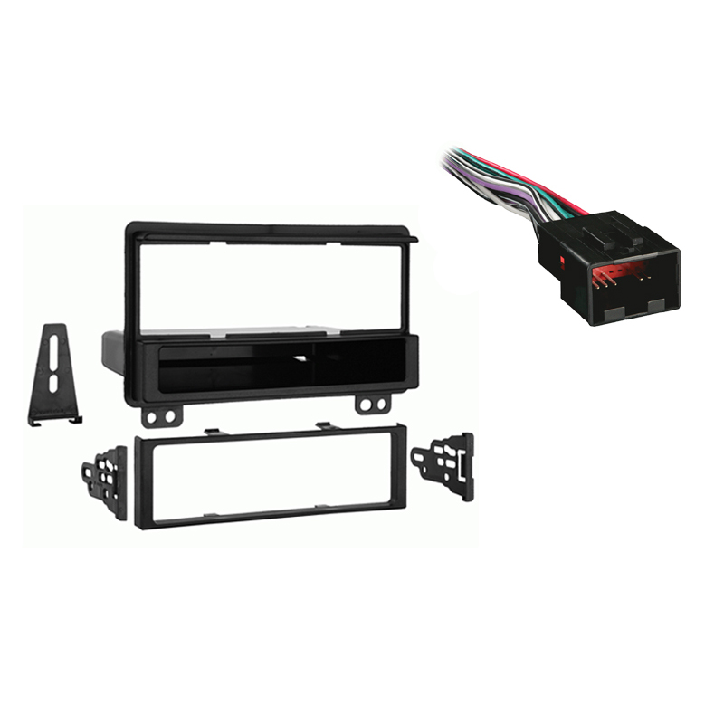 Ford Mustang 2001 2002 2003  Single DIN Stereo Harness Radio Install Dash Kit Package
