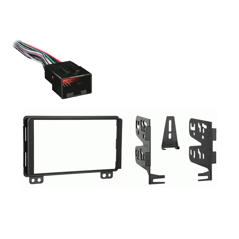 Ford Mustang 2001 2002 2003  Double DIN Stereo Harness Radio Install Dash Kit Package