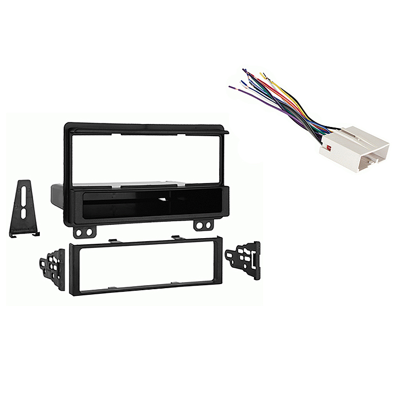 Ford Mustang 2004 Single DIN Aftermarket Stereo Harness Radio Install Dash Kit