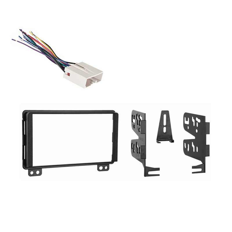 Ford Mustang 2004 Double DIN Aftermarket Stereo Harness Radio Install Dash Kit