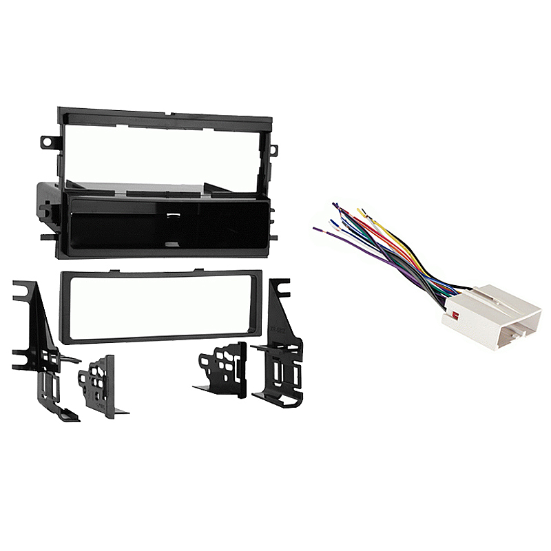 Ford Mustang 2005 2006 Single DIN Stereo Harness Radio Install Dash Kit Package