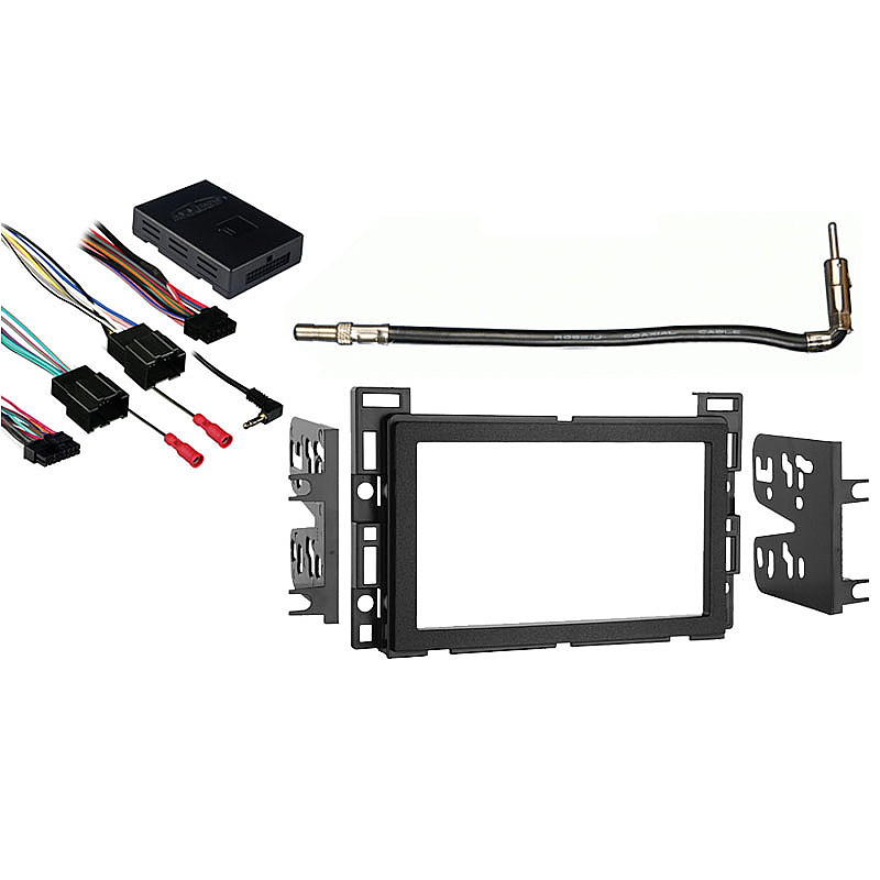 GMC Acadia 2007 2008 2009 2010 2011 2012 Double DIN Aftermarket Stereo Harness Radio Install Dash Kit
