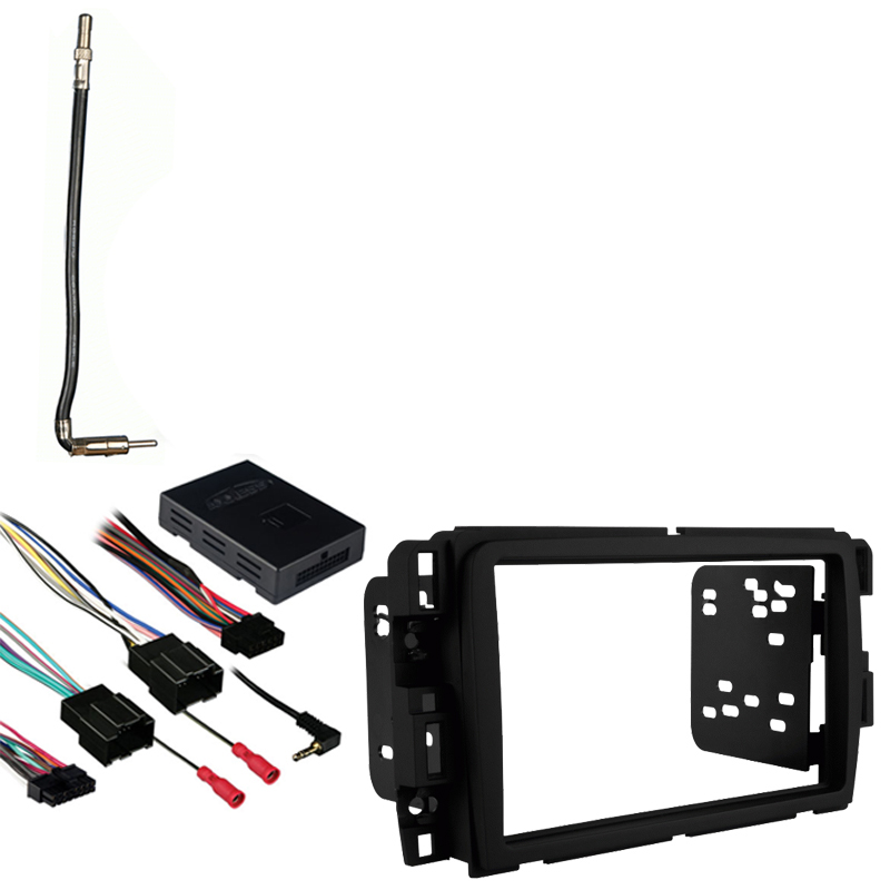 GMC Acadia 13-16 Double DIN Aftermarket Stereo Harness Radio Install Dash Kit