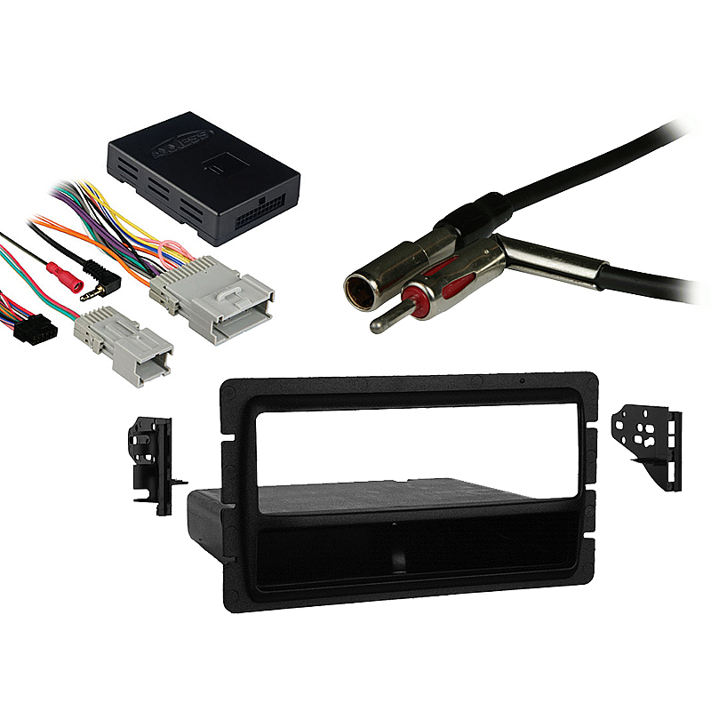 GMC Denali 2003 Single DIN Aftermarket Stereo Harness Radio Install Dash Kit