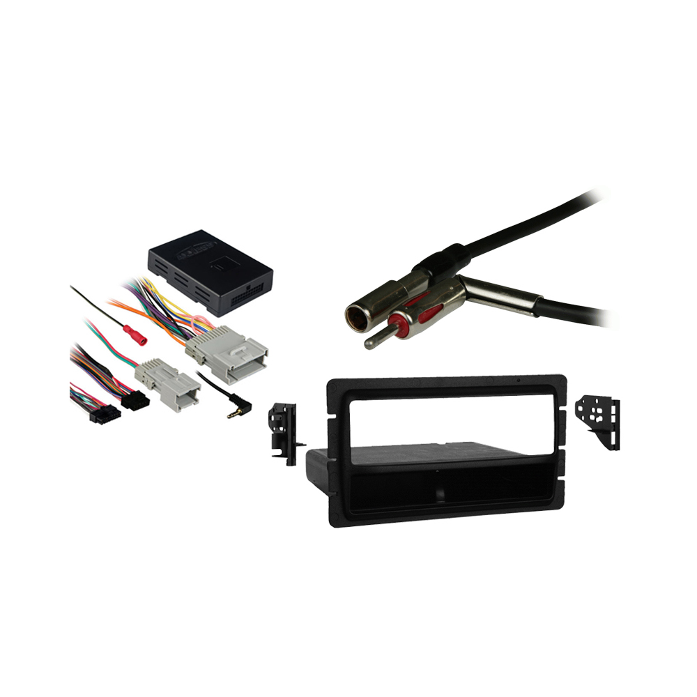 GMC Envoy 2002 2003 2004 2005 2006 2007 2008 2009 Single DIN Aftermarket Stereo Harness Radio Install Dash Kit
