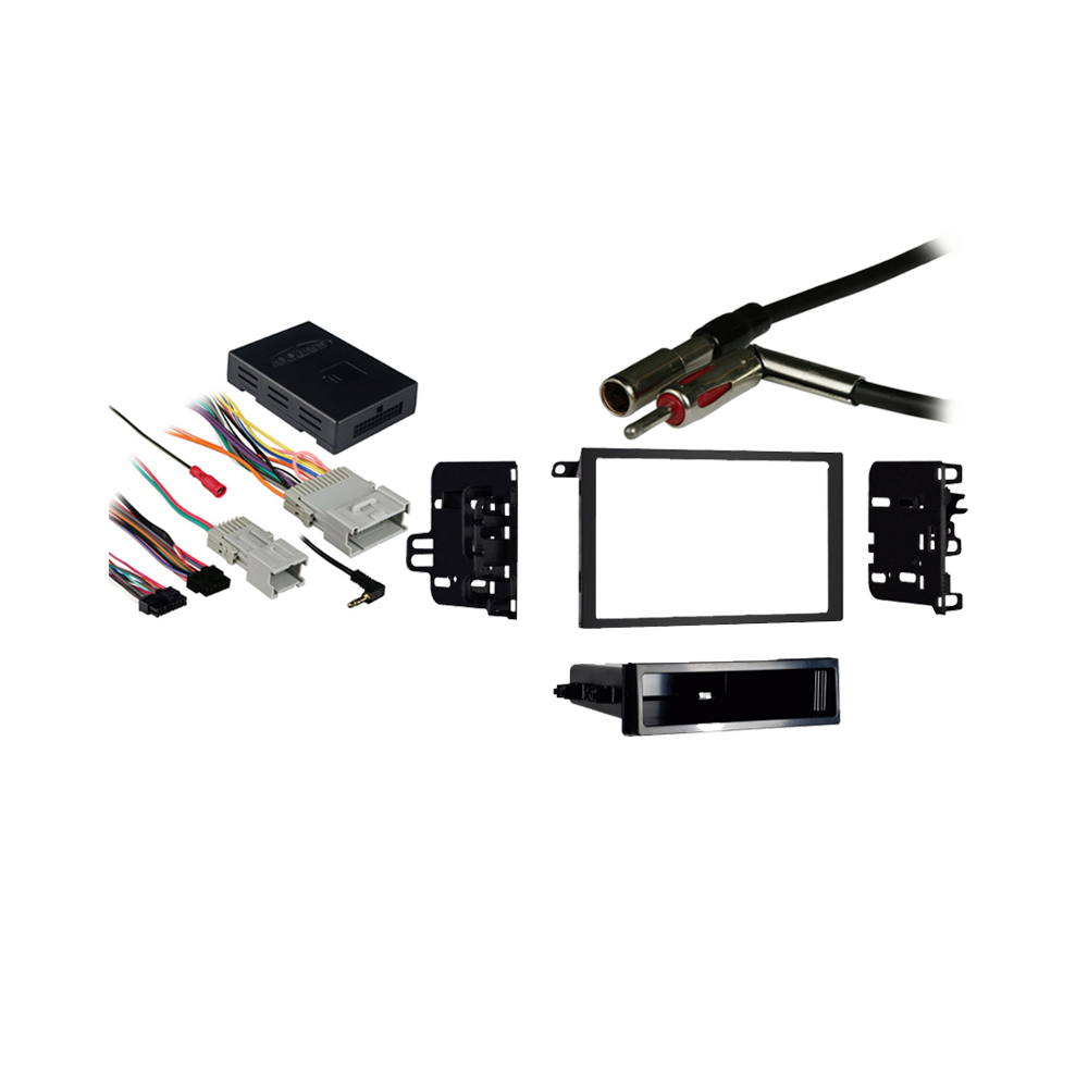 GMC Envoy 2002 2003 2004 2005 2006 2007 2008 2009 Double DIN Aftermarket Stereo Harness Radio Install Dash Kit
