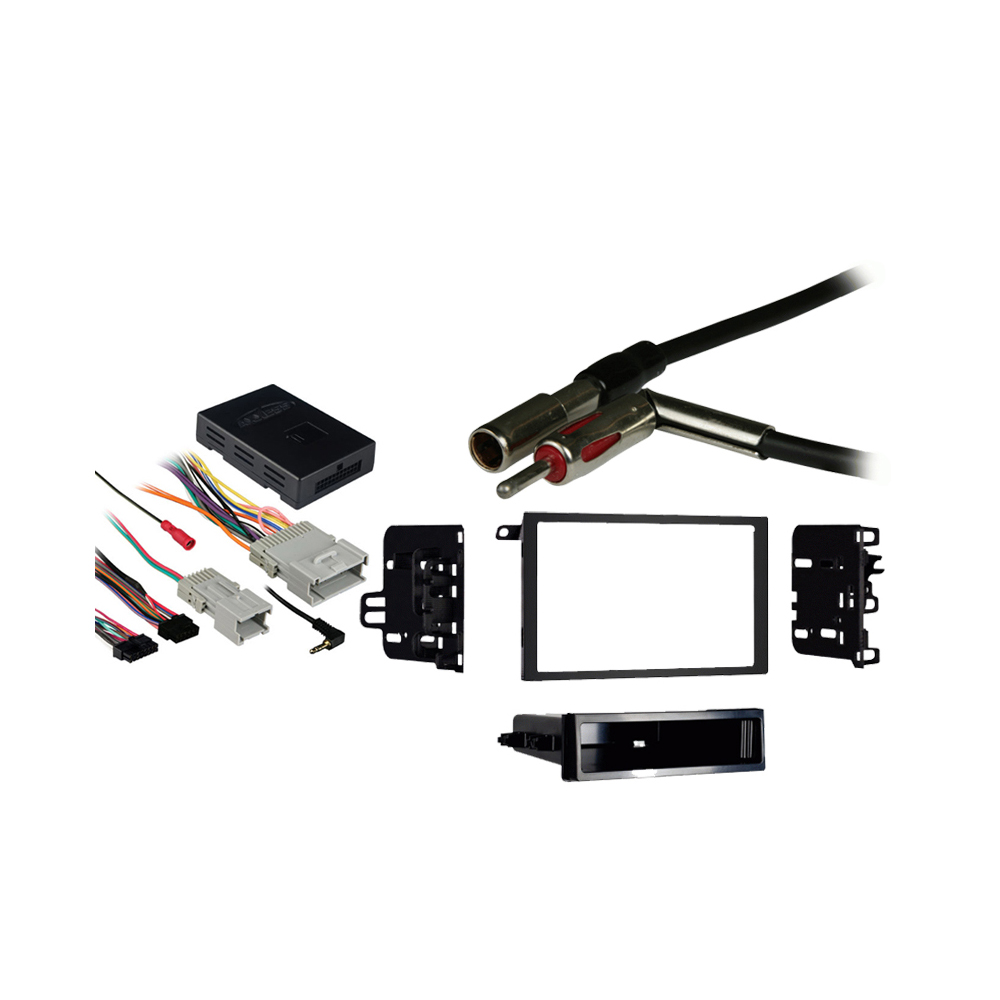 GMC Sierra 2003 2004 2005 2006 Double DIN Aftermarket Stereo Harness Radio Install Dash Kit